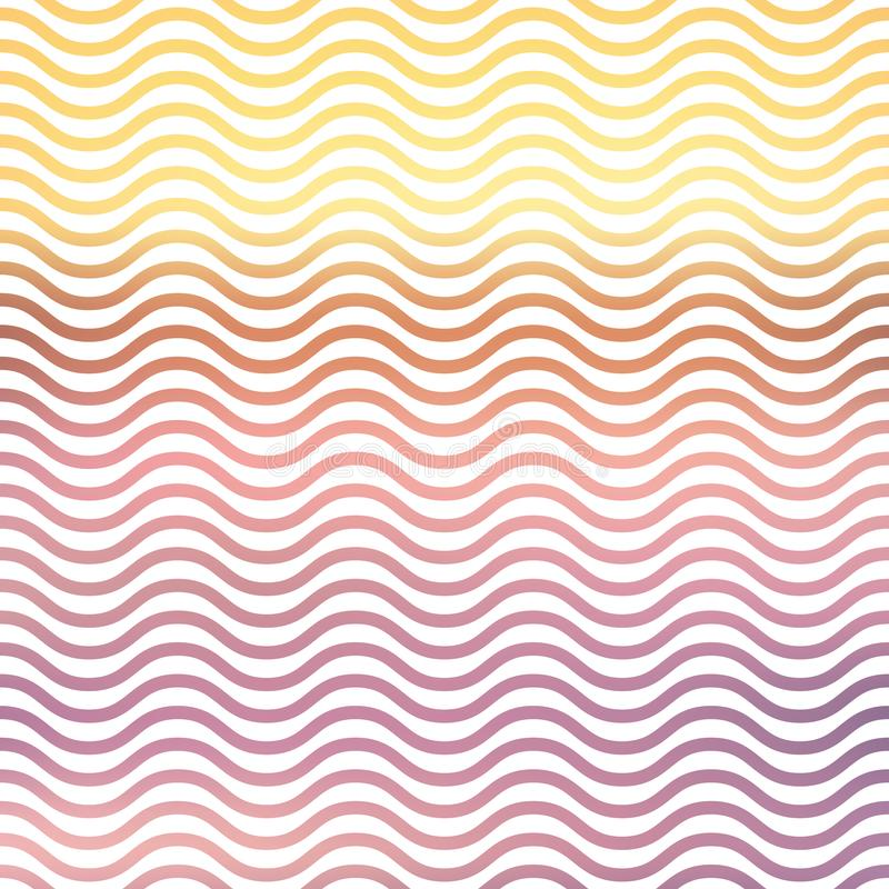 Gradient waves pattern, abstract geometric background. Luxury and elegant stylei llustration royalty free illustration