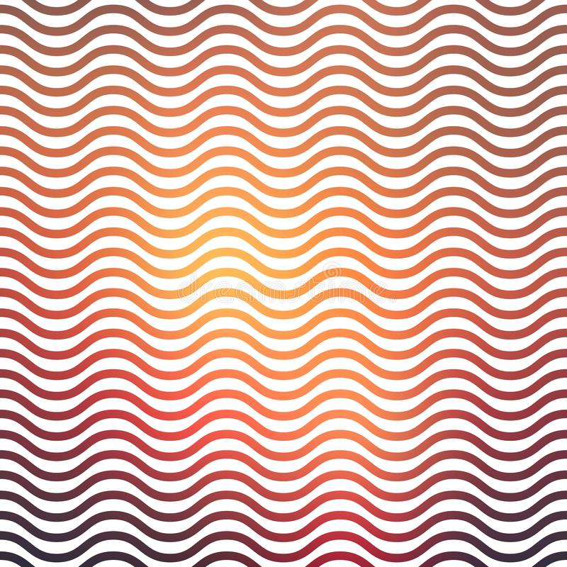 Gradient waves pattern, abstract geometric background vector illustration