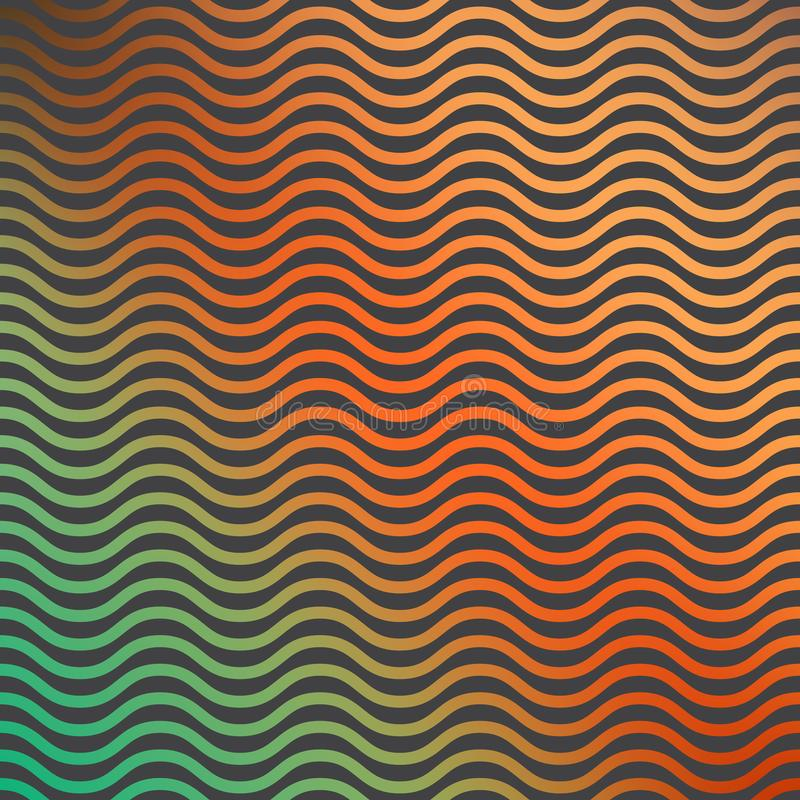 Gradient waves pattern, abstract geometric background. Luxury and elegant stylei llustration stock illustration