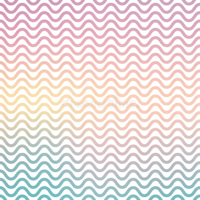 Gradient waves pattern, abstract geometric background royalty free illustration