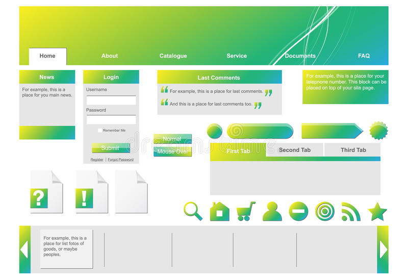 Download Gradient Web Forms. Royalty Free Stock Image - Image: 16647446