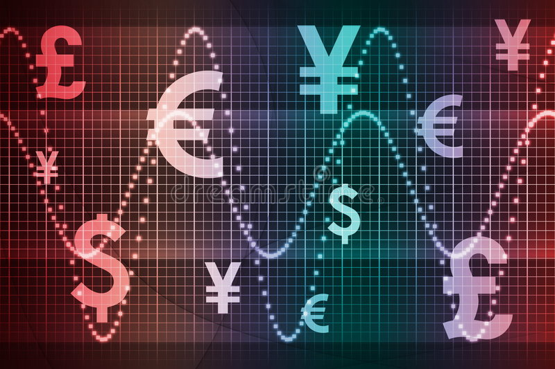 Gradient World Currencies Business Abstract Backgr vector illustration