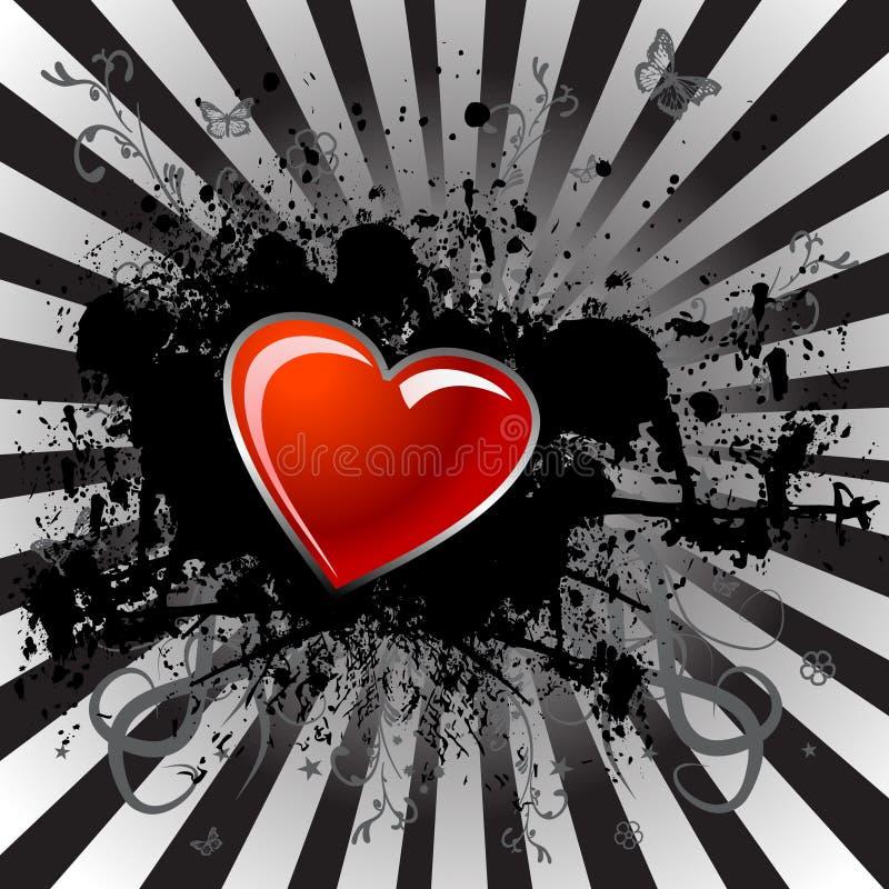 Gradiente e cuore rosso royalty illustrazione gratis