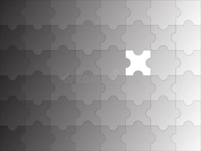 Gradiente incompleto di puzzle royalty illustrazione gratis