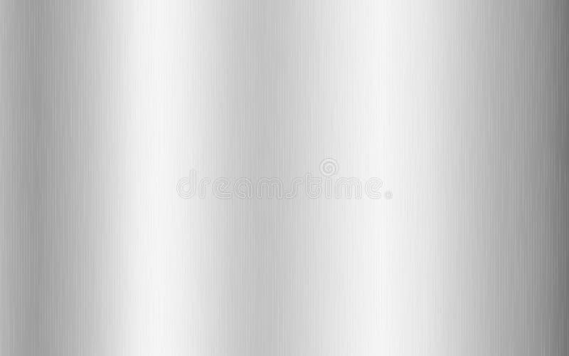 Gradiente metallico d'argento con graffi Effetto texture di titano, acciaio, cromo, fogli di nichel Illustrazione vettoriale royalty illustrazione gratis