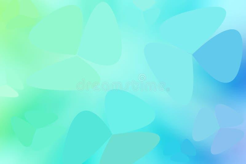 Gradiente verde y azul en tonos pastel abstracto de estilo libre. Fondo gr?fico. fondo abstracto de estilo libre stock de ilustración