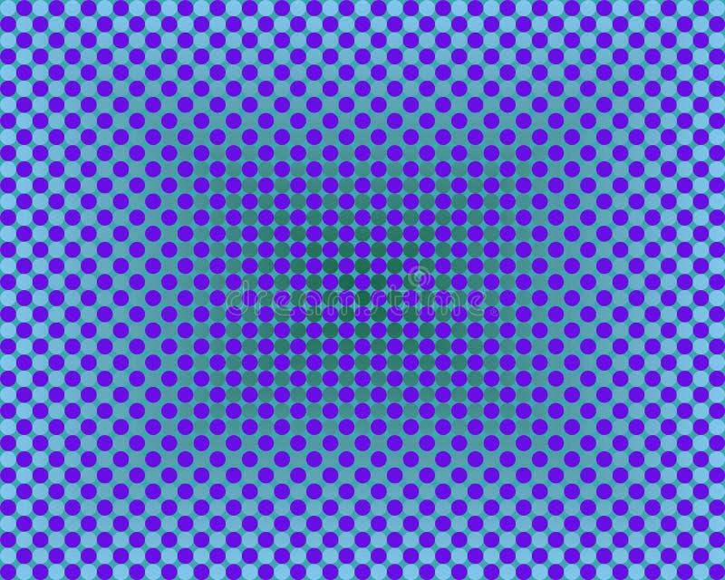 Gradientes de los círculos del arte de Op. Sys. mil azules libre illustration