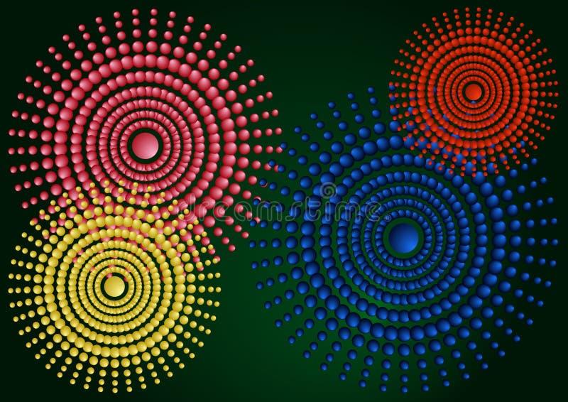 Gradientowa abstrakcjonistyczna ilustracja z okręgami ilustracji