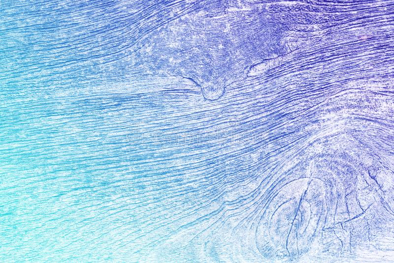 Gradientowa cyan i purpurowa stara drewniana tekstura fotografia stock
