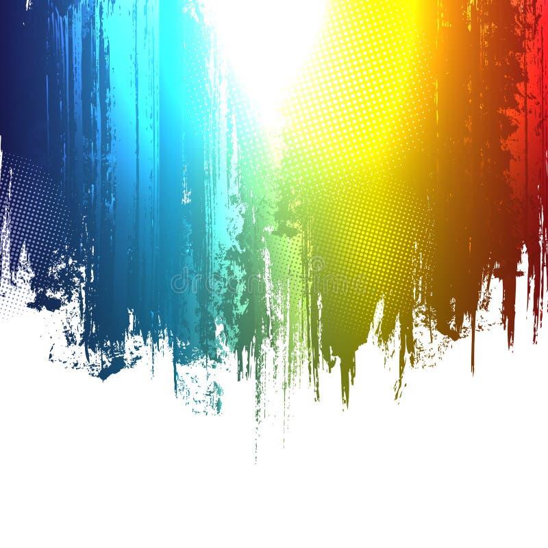 Gradientowa farba bryzga tło royalty ilustracja
