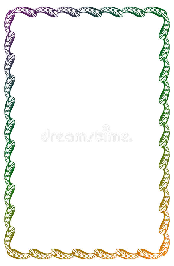 Gradientowa koloru abstrakta rama Raster klamerki sztuka ilustracja wektor