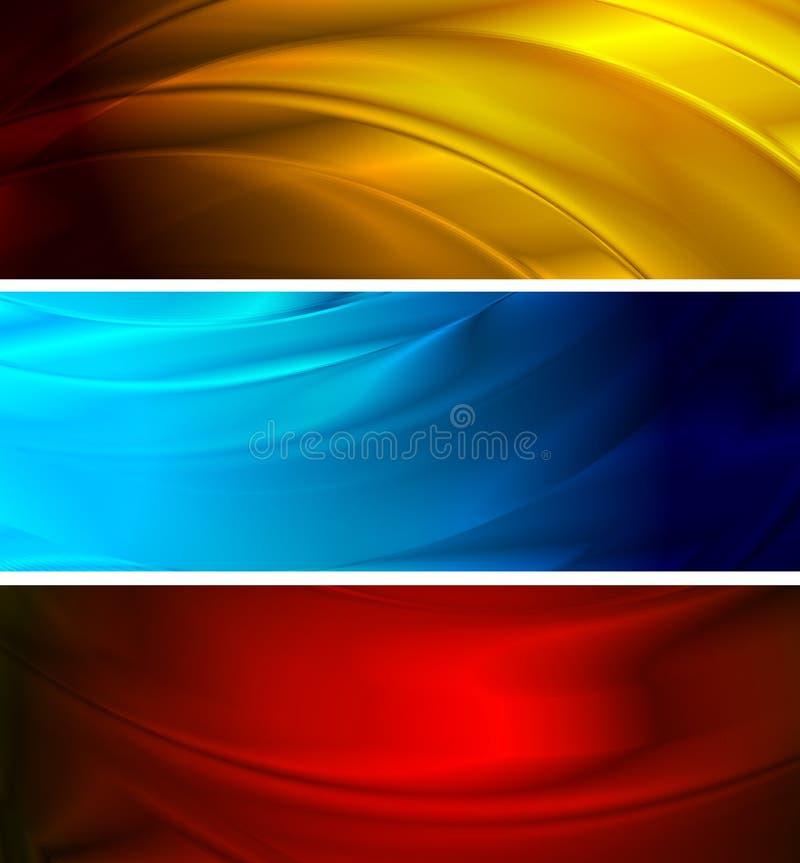gradientowa sztandar siatka żadny prosty falisty ilustracja wektor