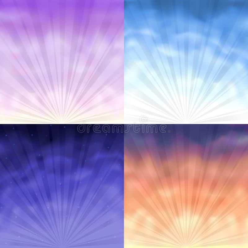 gradientowa tło siatka cztery