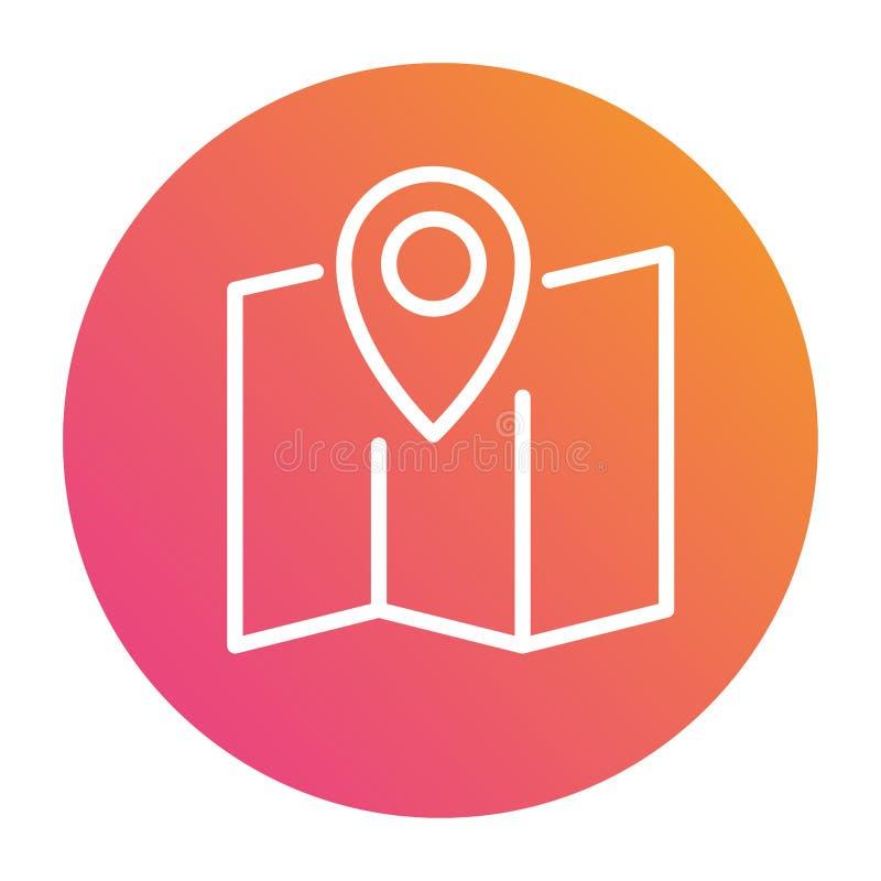 Gradientowa wektorowa kolorowa interfejs lokaci wałkowego okręgu ikona ilustracji