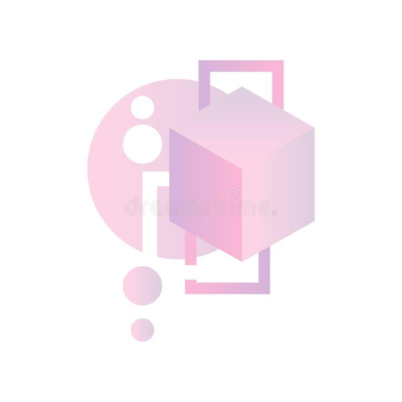 Gradientowe geometryczne formy, kolorowy abstrakcjonistyczny projekt dla etykietki, prezentacja, plakat, sztandar lub karta, nowo ilustracja wektor