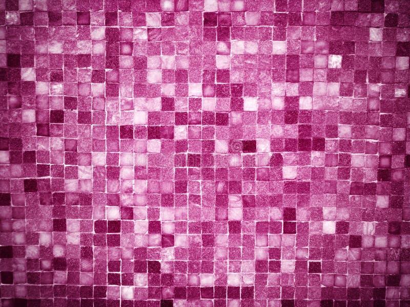 Gradientowe magenta barwione mozaik płytki obraz stock