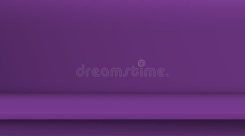 Gradientowej siatki wektorowy st?? Tło pusty żywy purpurowy koloru stół, pracowniany pokój reklamuje dla twój biznesowych produkt royalty ilustracja