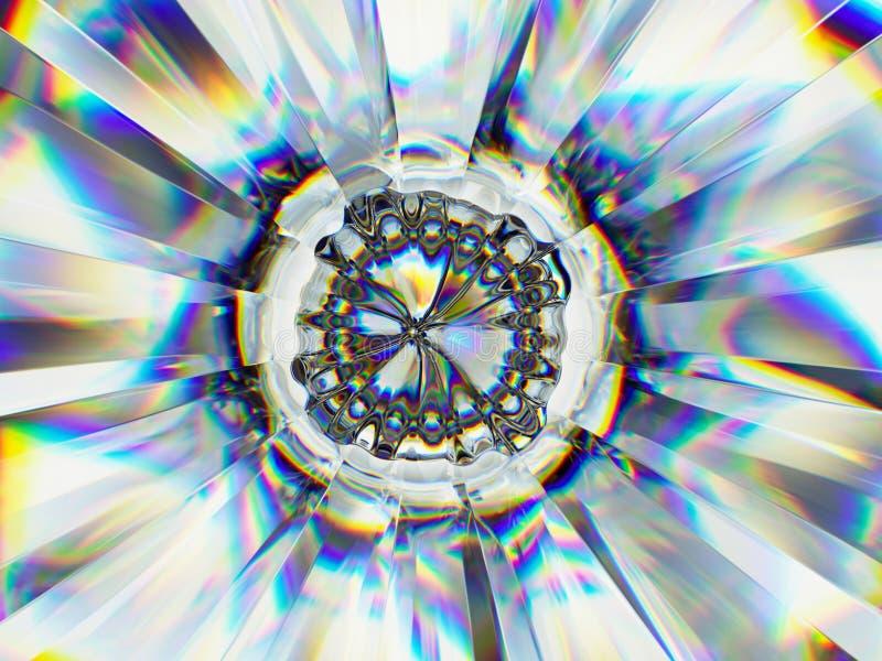 Gradientowej szklanej struktury krańcowy zbliżenie i kalejdoskop fotografia royalty free