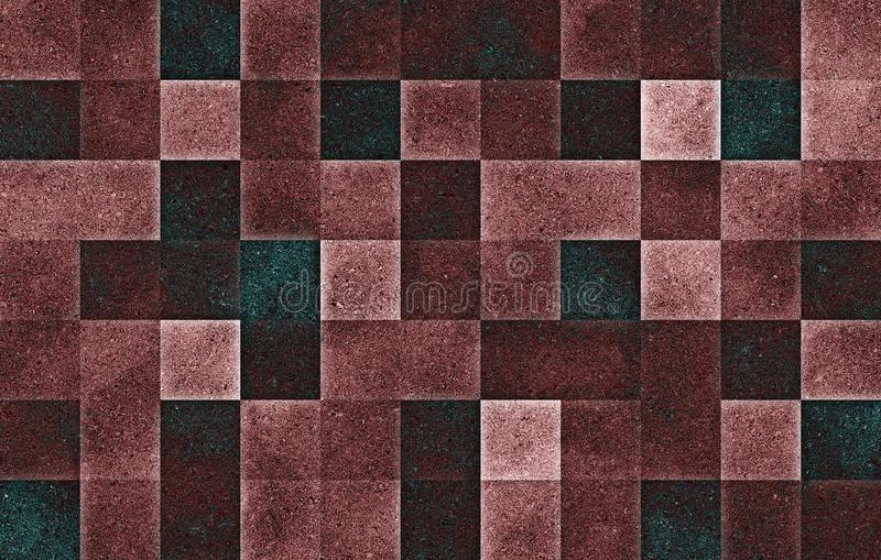 Gradientowi geometryczni kwadratowi bloki B?yskotliwo?ci tekstura abstrakcyjny t?o obrazy royalty free