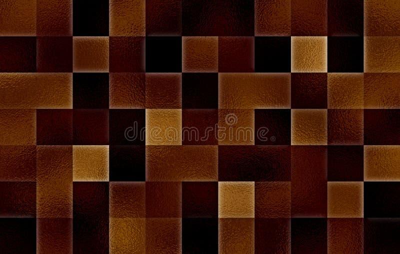 Gradientowi geometryczni kwadratowi bloki Szklana tekstura abstrakcyjny tło obraz royalty free