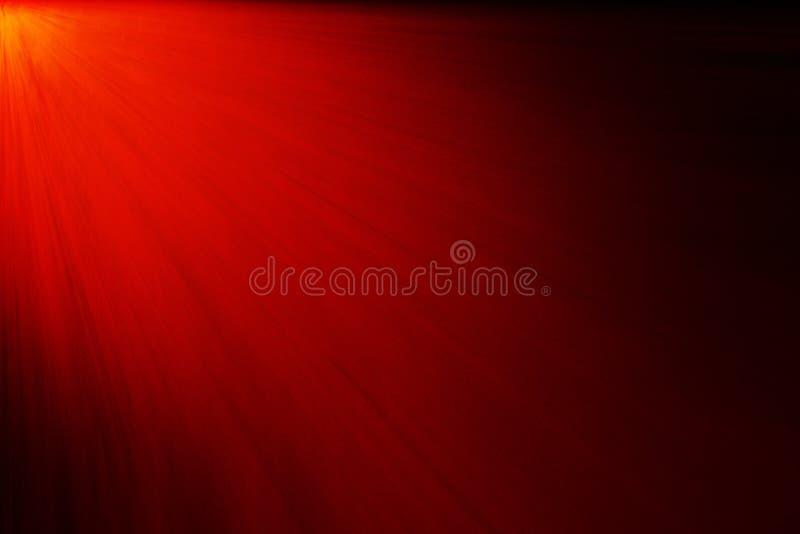 Gradientowy czerwony tło z lampasami światło zdjęcia stock