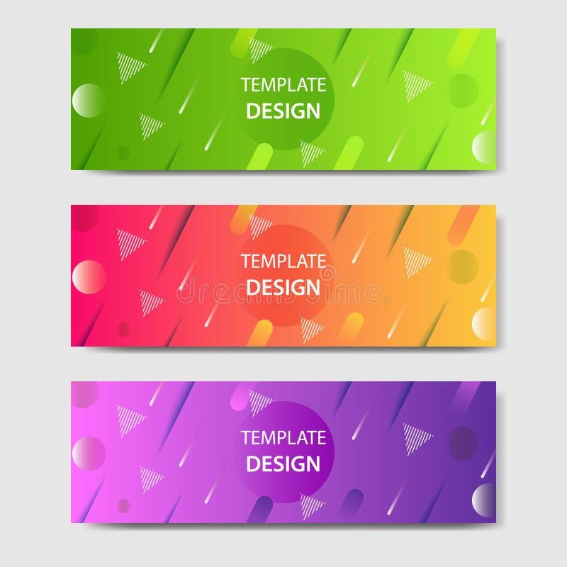 Gradientowy i nowożytny futurystyczny tło szablon dla sztandaru ilustracji