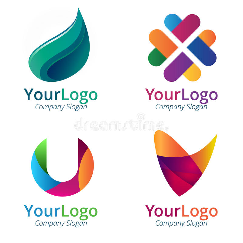 Gradientowy logo ilustracja wektor