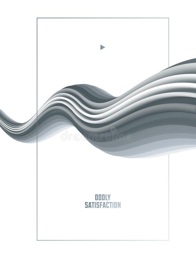Gradientowy rzadkopłynny wektorowy abstrakcjonistyczny kształt, 3D koloru abstrakcjonistyczny tło w nowożytnym modnym stylu ilustracja wektor