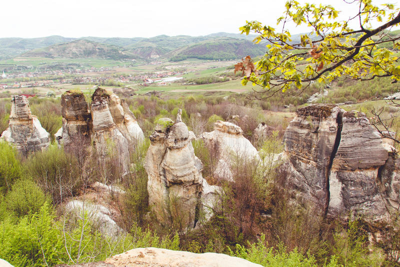 Gradina Zmeilor (Dragon's Garden) stock photos