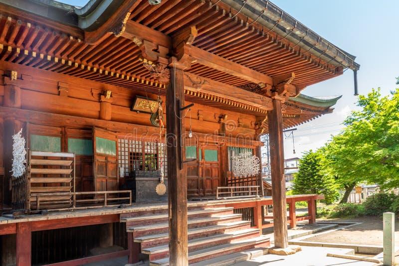 Gradino della porta giapponese del tempio immagini stock