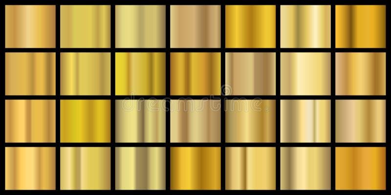 Gradios dorados Textura de metal brillante para banner y fondo, lámina de latón amarillo Borde de cobre realista para vectores libre illustration