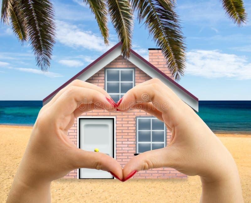 Gradisco la mia casa di spiaggia immagine stock libera da diritti