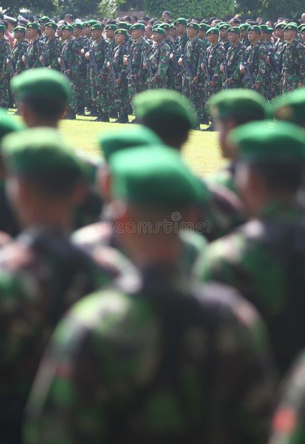Grado di truppe prima dei giochi del asean para fotografia stock