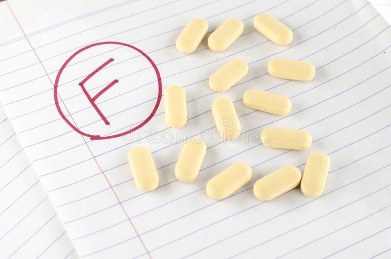 Grado f con la droga imágenes de archivo libres de regalías