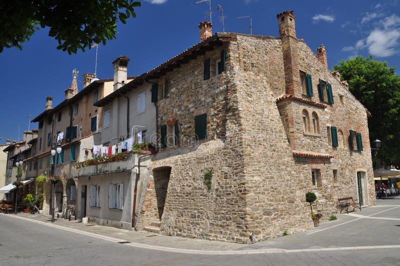 Grado, Friuli Venezia Giulia, Italia Vista della via fotografia stock