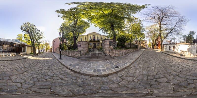 360 grados de panorama del Casa-museo Zlatyu Boyadzhiev en el Pl imagen de archivo libre de regalías