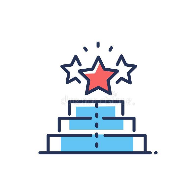 Grados del jugador - línea moderna icono del vector del diseño ilustración del vector