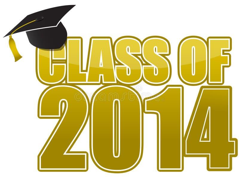 Graduação 2014 ilustração royalty free