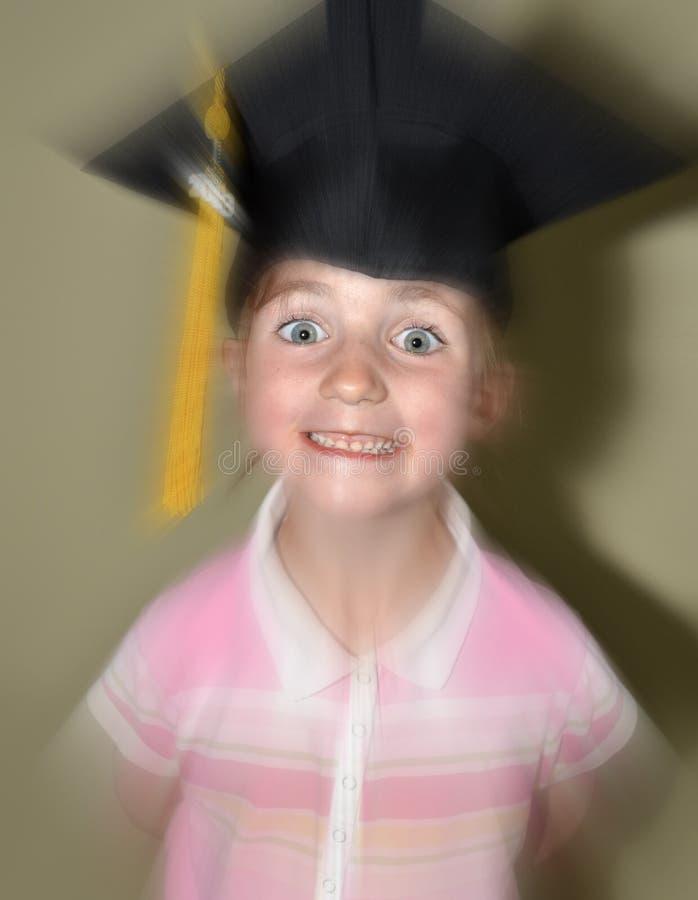 Graduação da moça com tampão imagens de stock