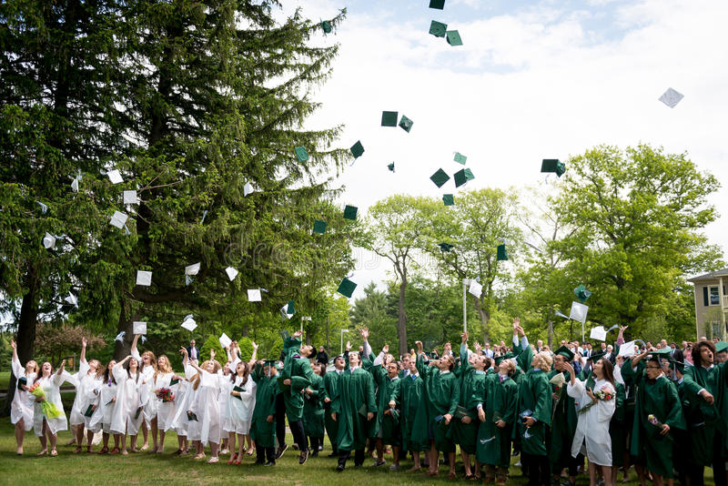 A graduação de Alumi da escola de Winchendon imagens de stock royalty free