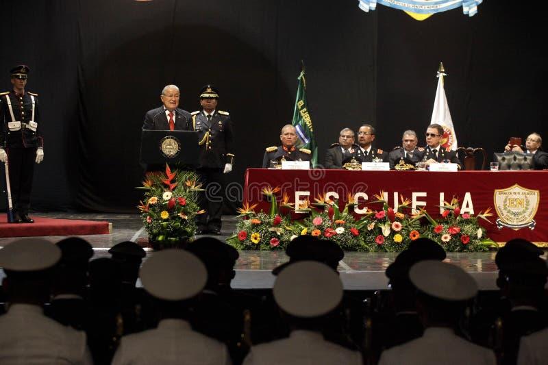 Graduação de la LXXXVIII promoción de Escuela Militar fotografia de stock