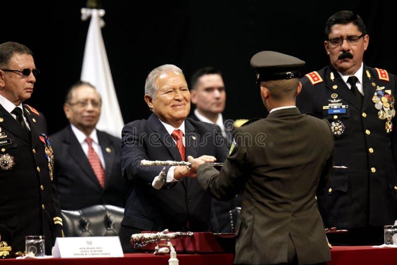 Graduação de la LXXXVIII promoción de Escuela Militar imagem de stock