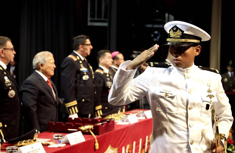 Graduação de la LXXXVIII promoción de Escuela Militar fotografia de stock royalty free
