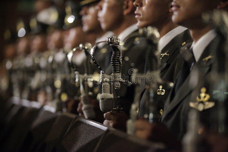 Graduação de la LXXXVIII promoción de Escuela Militar imagem de stock royalty free