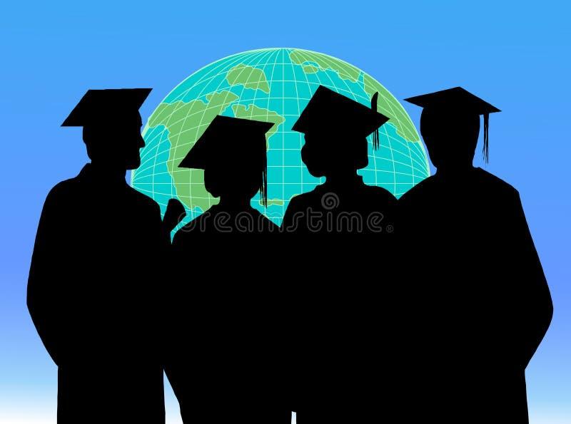 Graduação dos estudantes ilustração royalty free