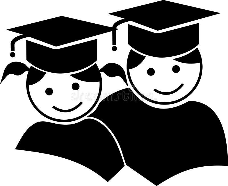 Graduação dos pares ilustração stock