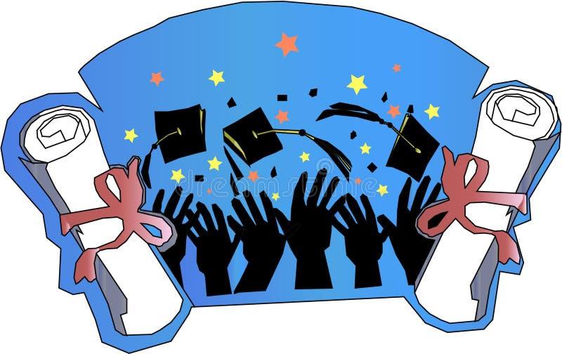 Graduação e celebração ilustração royalty free