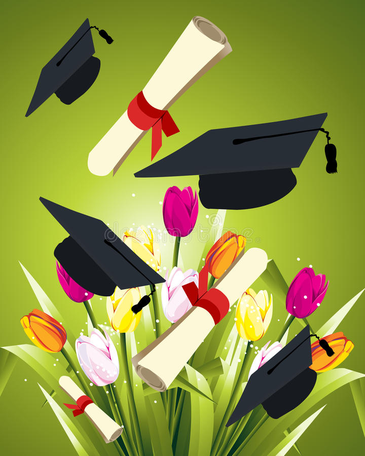 Graduação feliz ilustração stock