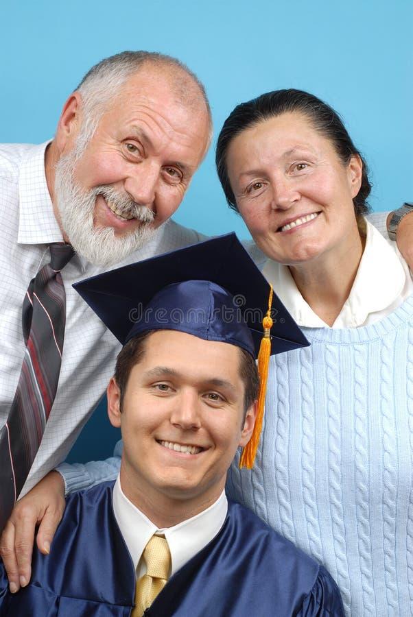 Graduação feliz fotografia de stock royalty free