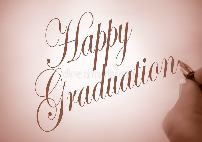 Graduação feliz de Callligraphy fotografia de stock royalty free
